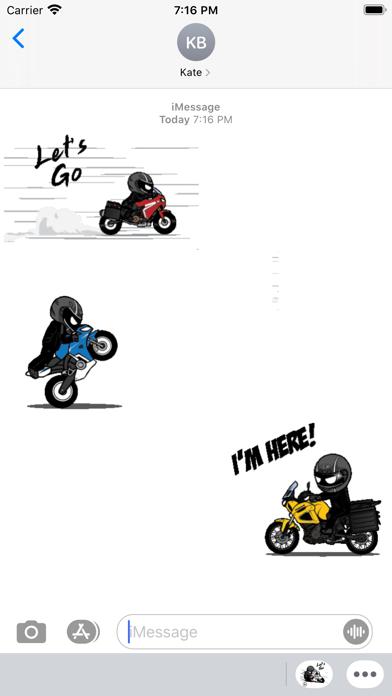 Animated Motorcycle Rider screenshot 1