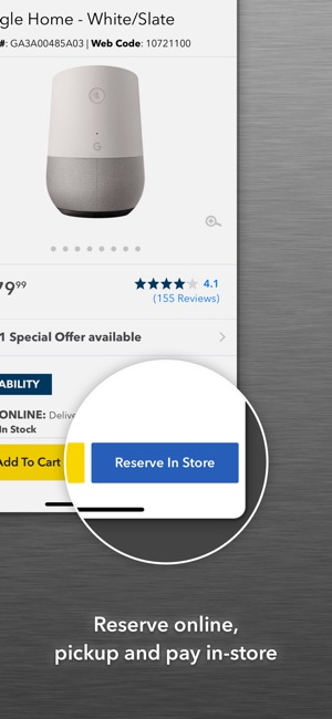 reserve and pickup apple store