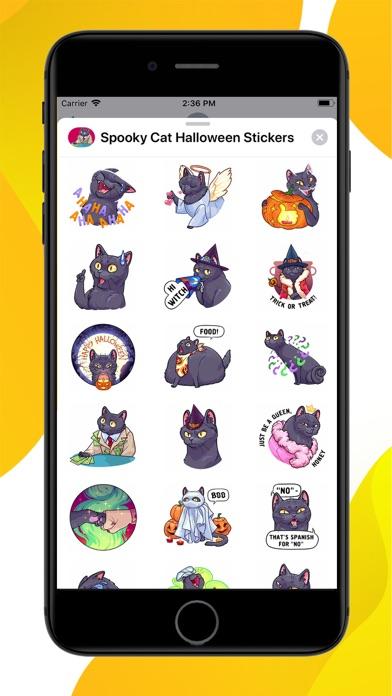 Spooky Cat Halloween Stickers screenshot 1