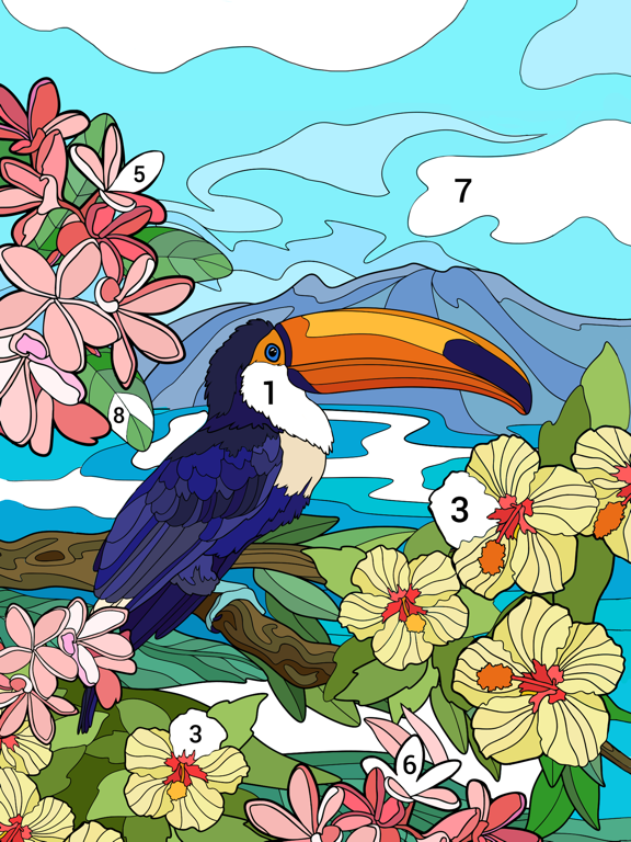 Happy Color™ – 数字で塗り絵。数字で色ぬりえのおすすめ画像1