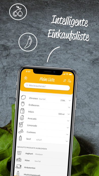 HNGRY - Einkaufsliste & VorratScreenshot von 1