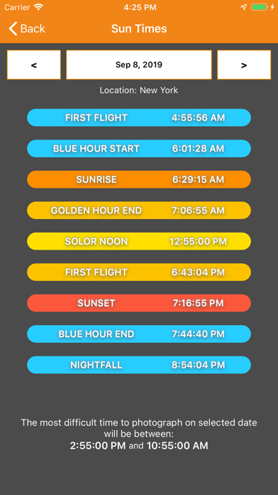SkyCandy - Sunset Forecast App Screenshot