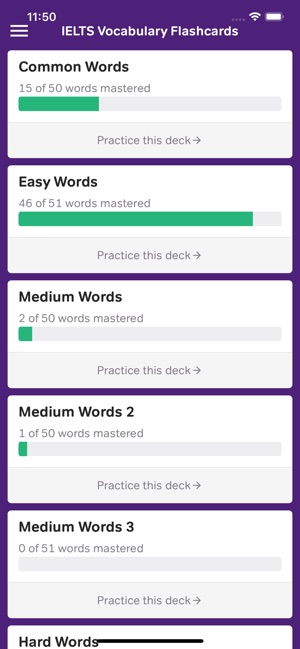 Vocabulary Flashcards - IELTS on the App Store