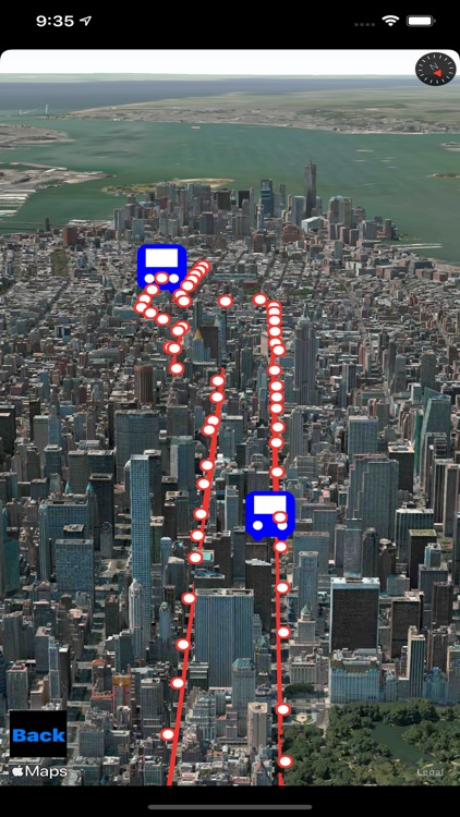 Bus NYC in 3D City View Lite