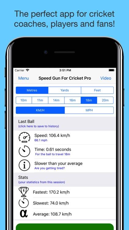 Speed Gun for Cricket Pro screenshot-3