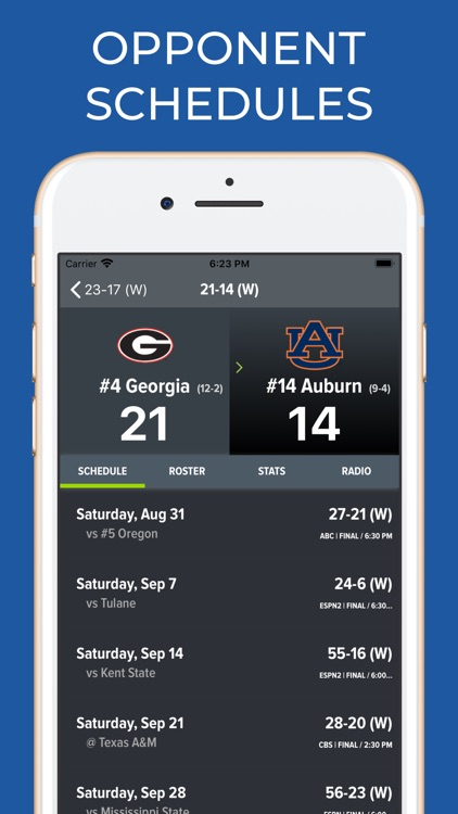 Georgia Football Schedules screenshot-7
