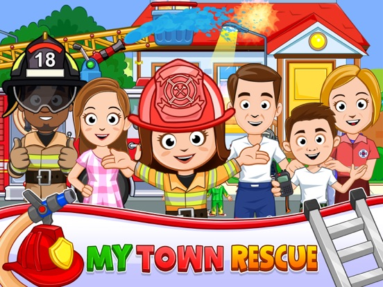My Town : Fire station Rescue на iPad