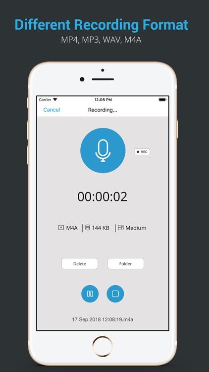 Audio Recorder HD & Voice Memo screenshot-4