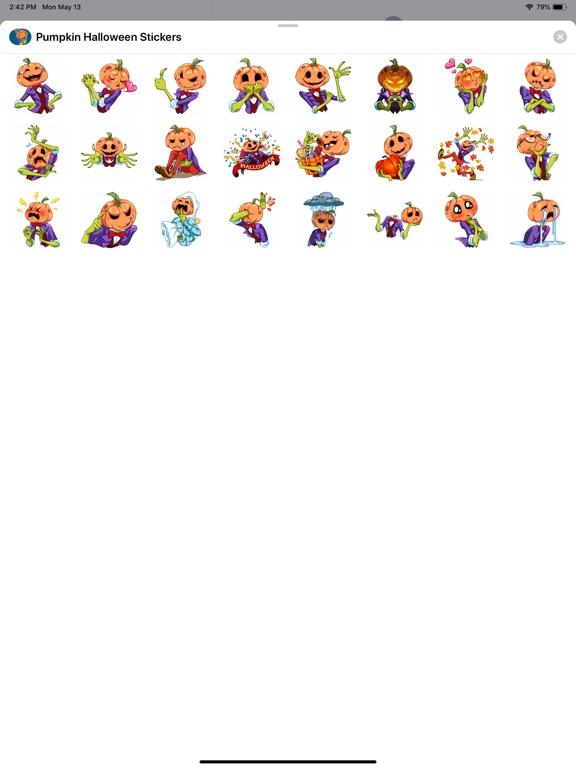Pumpkin Halloween Stickers screenshot 4