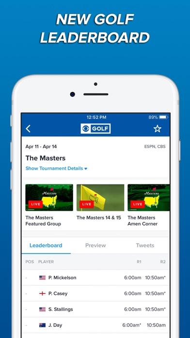 Screenshot of CBS Sports App Scores & News App