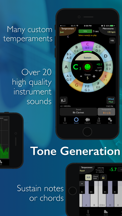 Screenshot of TonalEnergy Tuner & Metronome App