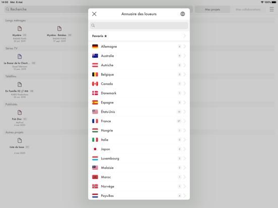 Camlist iPad captures décran