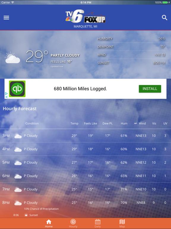 TV6 & FOX UP Weather   App Price Drops