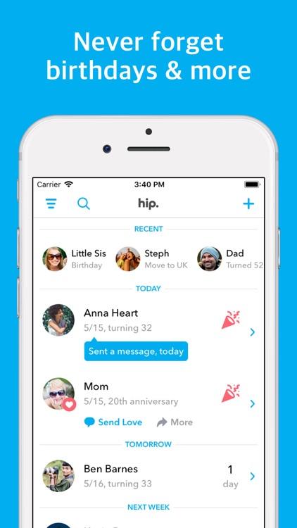 hip: Birthday Reminder App screenshot-0