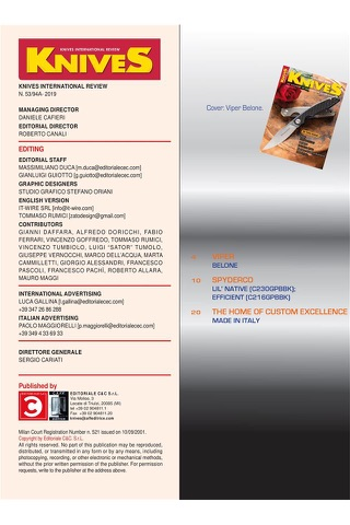 KNIVES INTERNATIONAL REVIEW - náhled