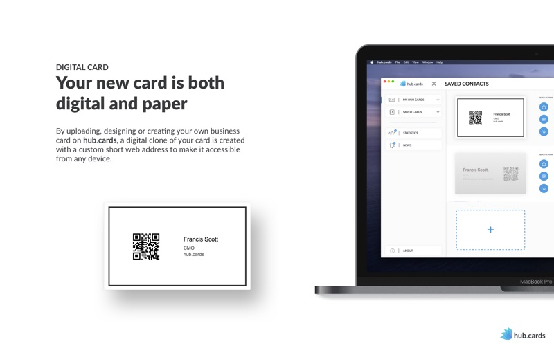 hub.cards - business cards for Mac