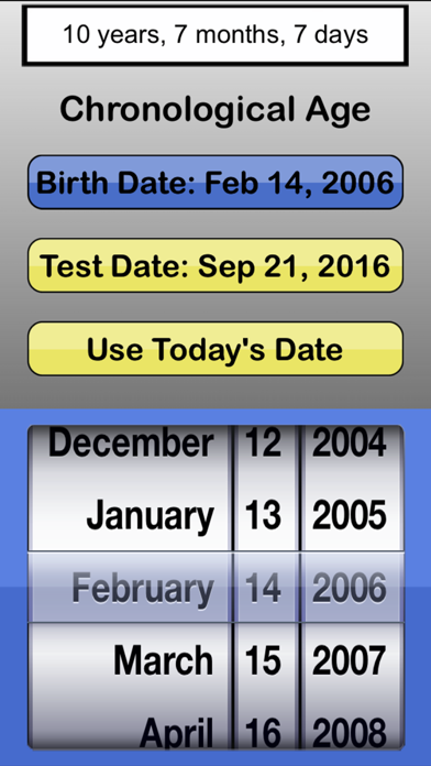 Screenshot for #1 Chronological Age Calculatr in South Africa App Store
