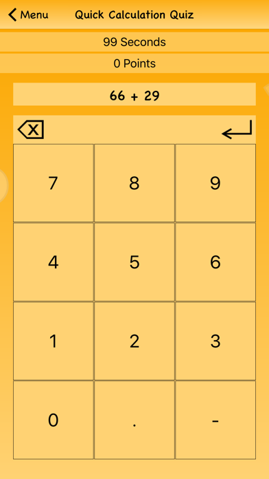 Quick Calculation Quiz screenshot one