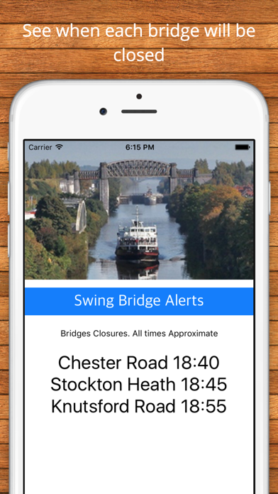 Swing Bridge Alerts screenshot three