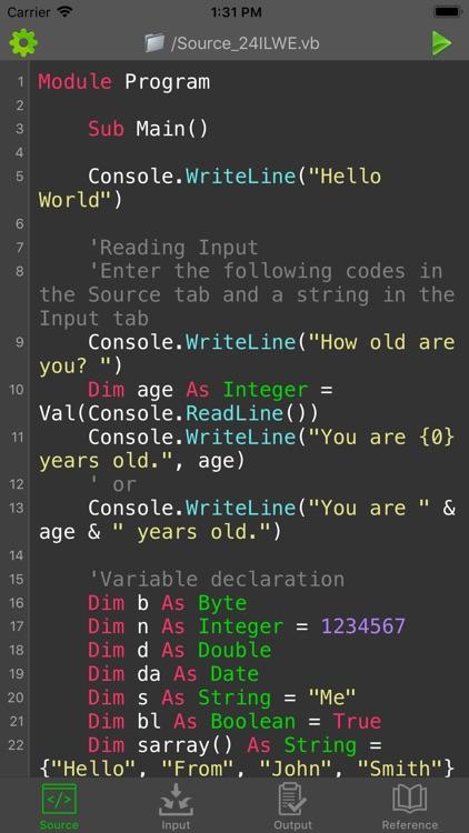 Visual Basic (VB NET) Compiler by Ketan Appa