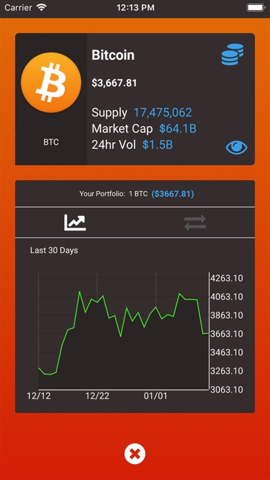 Screenshot for Fire - Crypto Portfolio in United States App Store