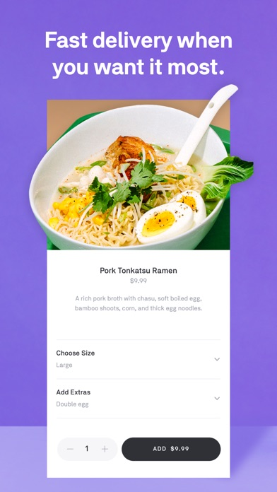 Postmates review screenshots