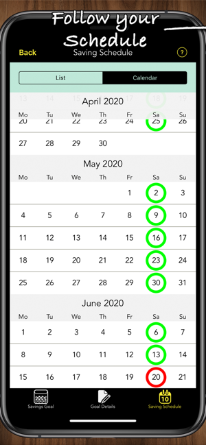 Savings Goals Pro Screenshot