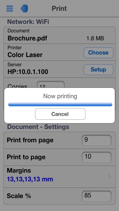 PrintCentral for iPhone screenshot three