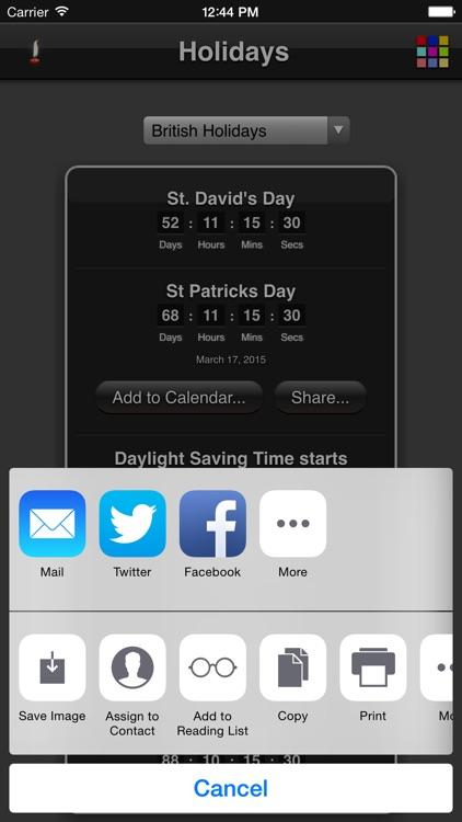Holidays Countdown screenshot-4