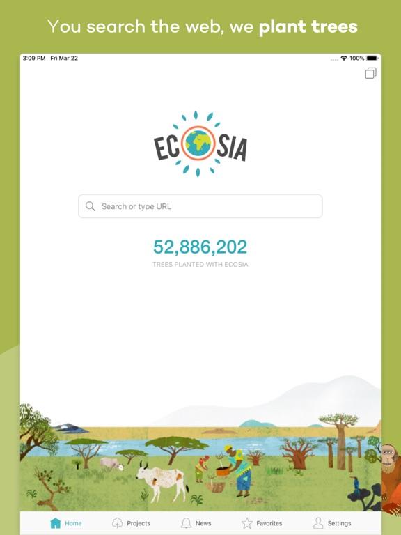 iPad Image of Ecosia