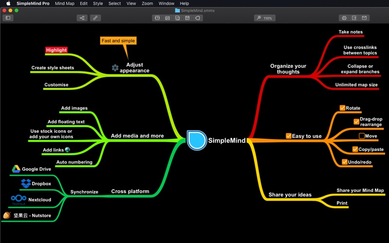 SimpleMind - Mind Mapping Screenshot 2