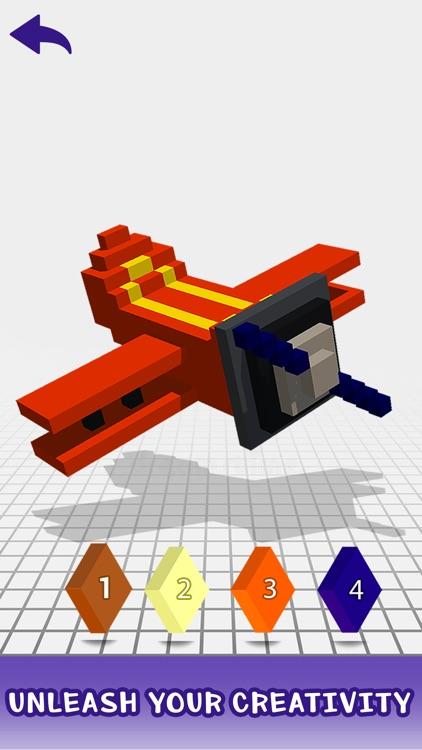 3D Color by Number - Pixel Art