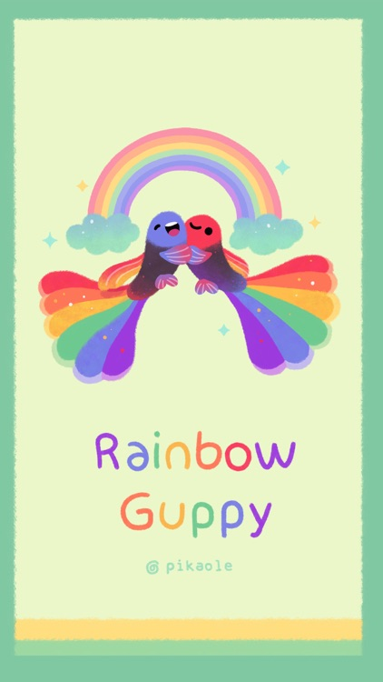 Rainbow guppy