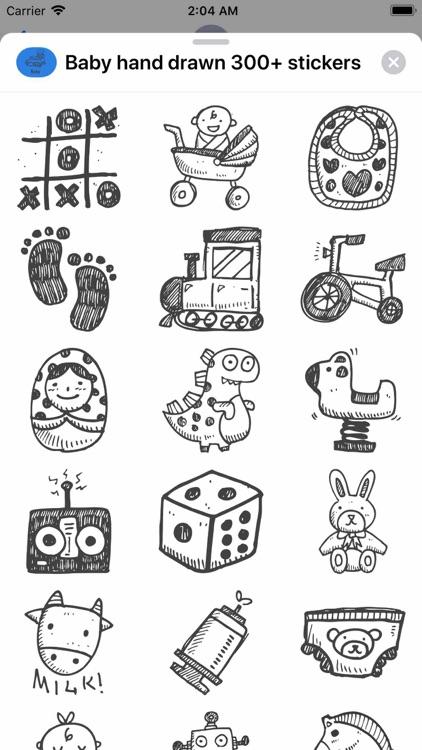 Baby hand drawn 300+ stickers screenshot-8