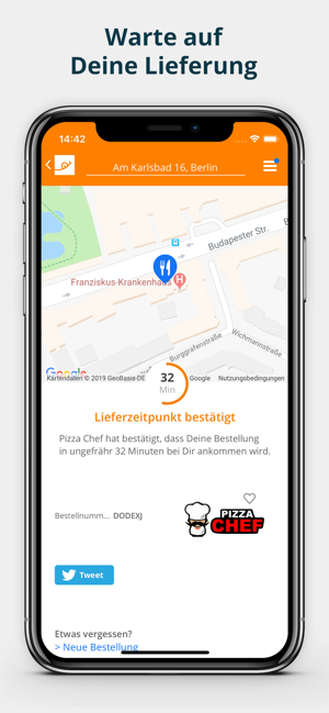 ‎pizza.de - Essen bestellen Screenshot