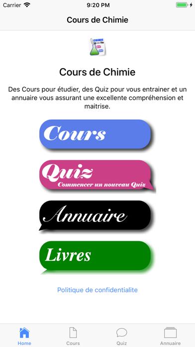 Cours de Chimie screenshot 1