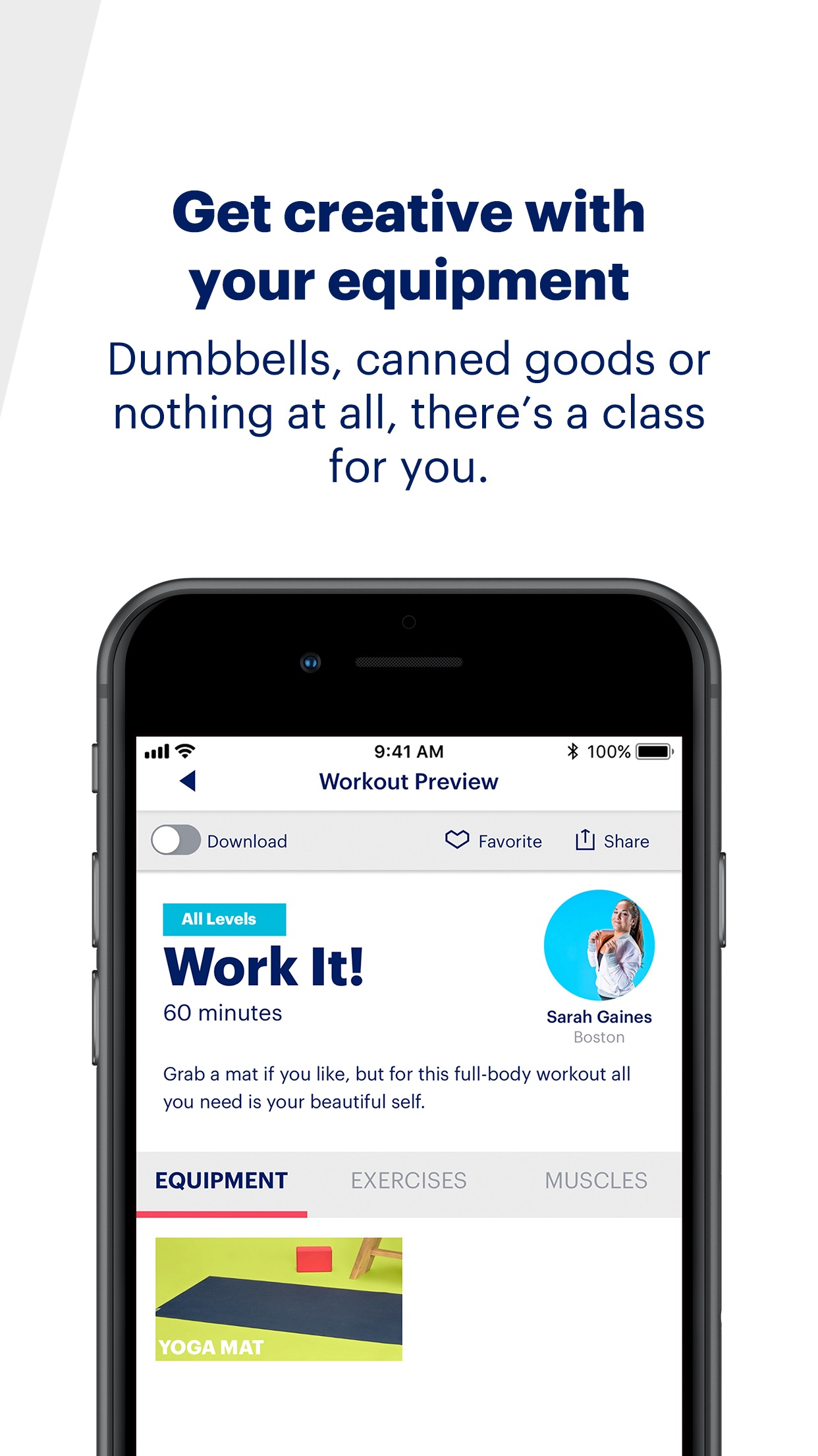 Screenshot do app ASICS Studio: At Home Workouts