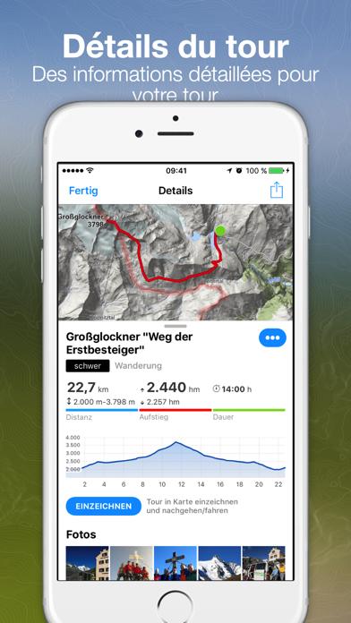 Screenshot #2 pour Tours Bergfex et suivi GPS