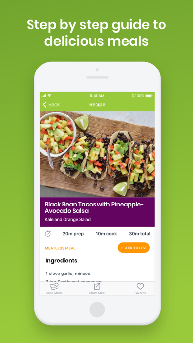 eMeals - Meal Planning and Grocery Shopping List screenshot