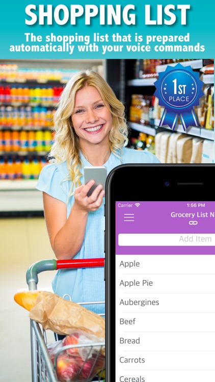 Grocery List by Voice