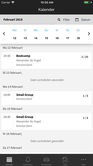 Fitmanager screenshot one