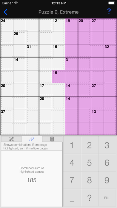 Killer Sudoku + screenshot three