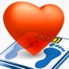 健康手帳:運動,検診,血液の記録で病気診断と健康管理