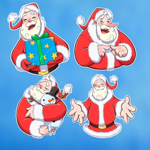 Lovely Santa Claus Stickers HD
