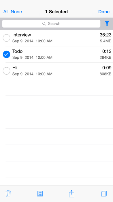 Audio Memos Pro review screenshots