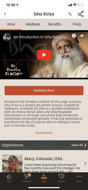 Sadhguru- Yoga & Meditation on the App Store