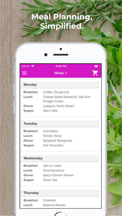 Plan Meals - MealPlanner Screenshot