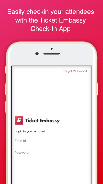 Ticket Embassy Check-in App