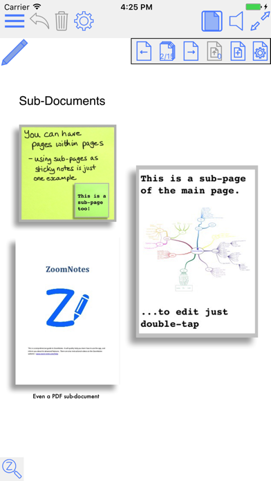 Zoomnotes review screenshots