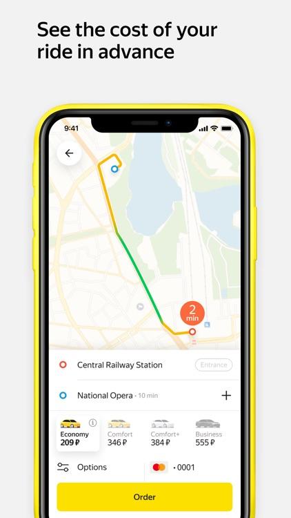 Yandex.Taxi — book a car
